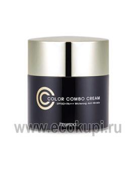 Осветляющий CC-крем с антивозрастным эффектом DEOPROCE Color Combo Cream, интернет магазин Экокупи японских корейских средств для лица дешево система скидок