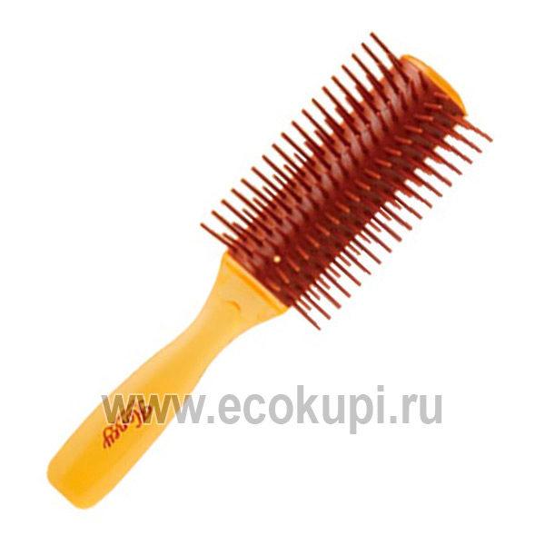 Японская щетка массажная для увлажнения и придания блеска волосам с мёдом и маточным молочком пчёл VESS Honey Brush купить расческа для длинных волос дешево