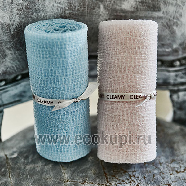 Корейская мочалка для душа мягкая SungboCleamy Pure Cotton Shower Towel магазин товаров из Японии купить японские корейские мочалки для тела