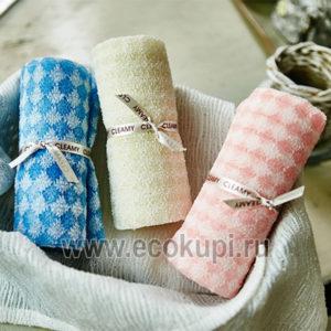Корейская мочалка для душа средней жесткости SungboCleamy Shower Towel Diamond, недорого купить расслабляющий массажер, самовывоз ПВЗ Москва Санкт-Петербург