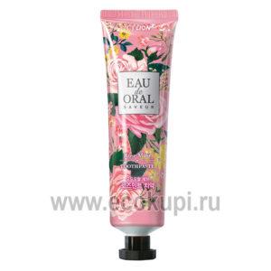 Антибактериальная зубная паста с ароматом мятной розы CJ LION Eau de Oral Saveur Rose Mint, купить недорого зубную щетку в Москве дешево со скидкой, акции