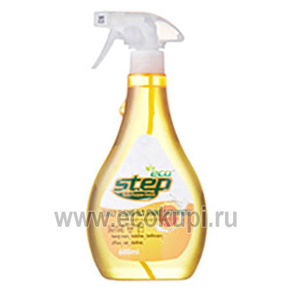 Корейское универсальное жидкое чистящее средство для дома с апельсиновым маслом KMPC Orange Step, недорого купить чистящие и моющие средства, система скидок
