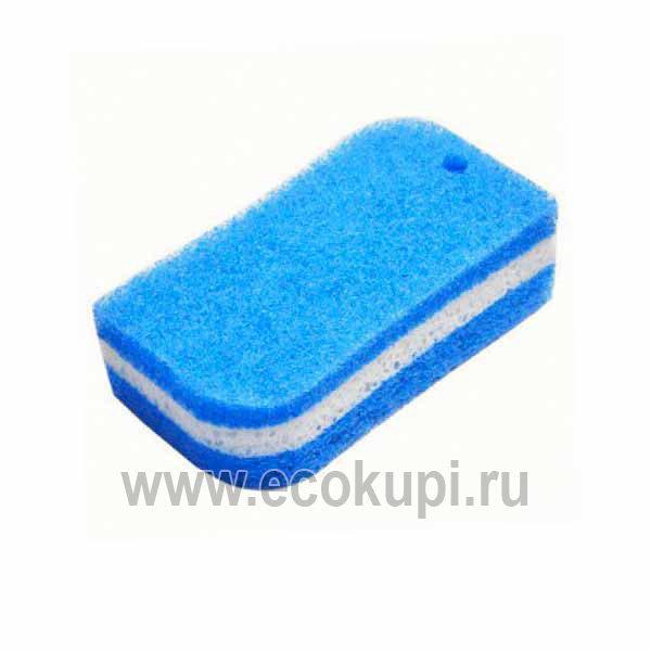 Японская губка для ванной трехслойная OH:E Acrylic Bath Sponge купить бытовую химию из японии дешево купить мягкая губка ванной система накопительных скидок