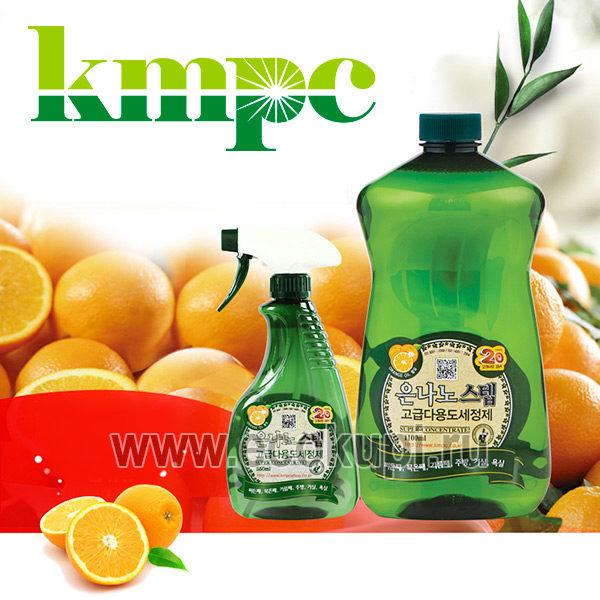 Корейское универсальное жидкое чистящее средство для дома с серебром KMPC Nano Silver Step Multi-Purpose Cleaner, недорого купить чистящее средство, скидки