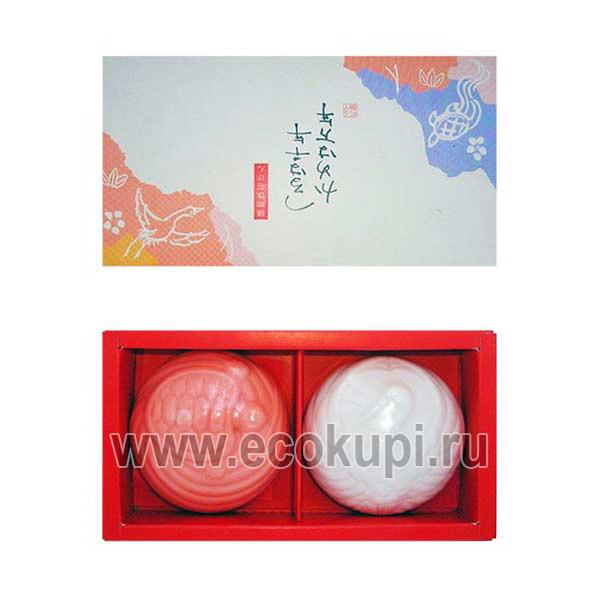 Японский подарочный набор туалетного мыла Журавль и Черепаха MASTER SOAP, купить недорого подарочные наборы японские товары интернет магазин Ecokupi Экокупи