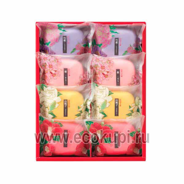 Японский подарочный набор туалетного мыла Цветы и травы MASTER SOAP Saika Dayori Soap Set, купить мужские подарочные наборы, удобные условия доставки заказа
