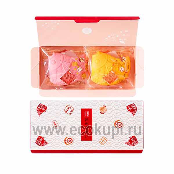 Японский подарочный набор туалетного мыла Рыбки MASTER SOAP, купить детские подарочные наборы недорого, система разовых и накопительных скидок, распродажа