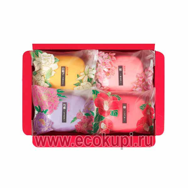 Японский подарочный набор туалетного мыла Цветы и травы MASTER SOAP Saika Dayori Soap Set, купить наборы подарочные дешево, самовывоз Москва Санкт-Петербург