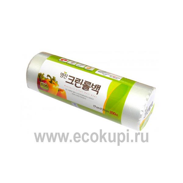 Пакеты полиэтиленовые пищевые MYUNGJIN Bags Type, интернет магазин Экокупи товары из Кореи, выгодно и недорого купить хозяйственные товары оптом, распродажа