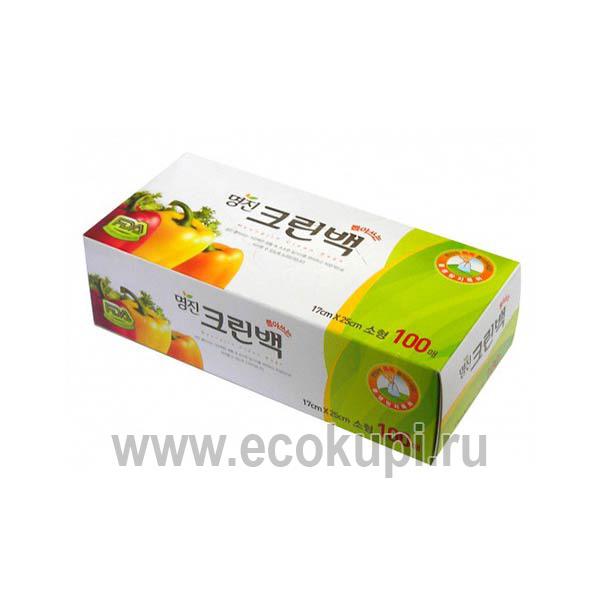 Пакеты полиэтиленовые пищевые MYUNGJIN хозяйственные перчатки купить хозяйственные товары из Кореи, купить хозяйственные товары из Японии, распродажа скидки
