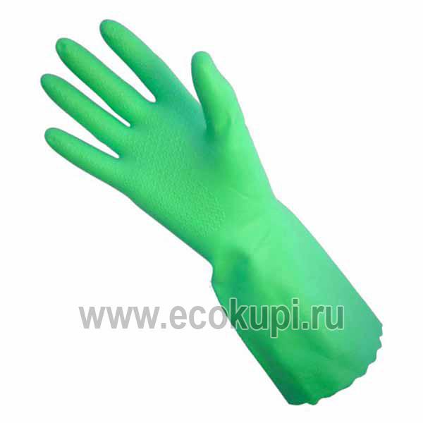 Перчатки из ПВХ с хлопковым напылением MYUNGJIN Hygienic Glove PVC, недорого купить надежные резиновые перчатки в Москве, интернет магазин товары из Кореи