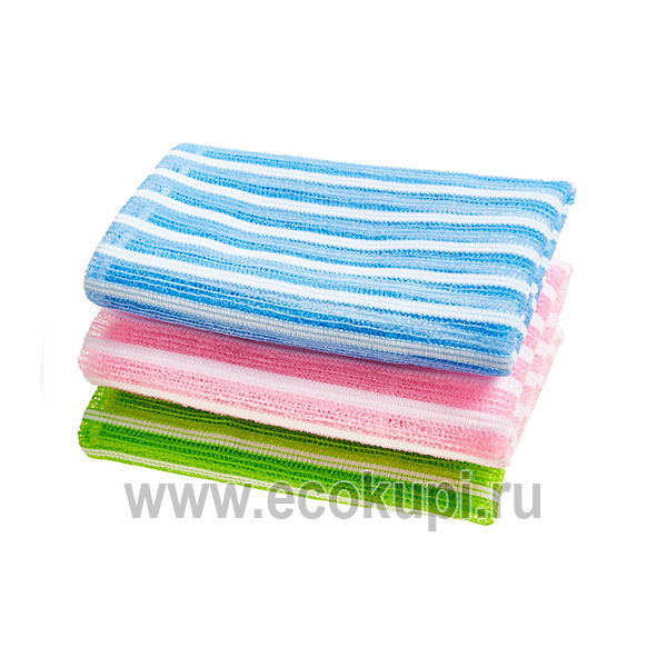 Корейская мочалка для душа средней жесткости SungboCleamy Shower Towel Daily, корейские японские товары интернет магазин подробное описание отзывы клиентов