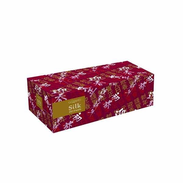 Японские двухслойные салфетки Silk 3 упаковки по 250 шт купить бумажные гигиенические салфетки, косметическая гигиена, интернет магазин товаров Японии Кореи