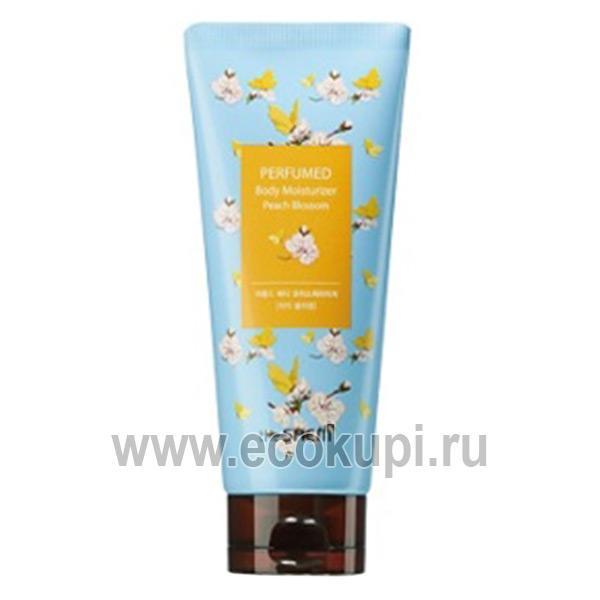 Лосьон парфюмированный для тела The Saem Perfumed Body Moisturizer Peach Blossom недорого купить ароматную соль для ванной распродажа скидки
