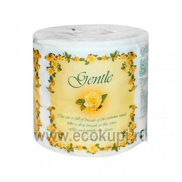 Японская трехслойная туалетная бумага с ароматом Европы в индивидуальной упаковке GENTLE, бытовая химия из Японии, выгодная цена, минимальный расход, скидки