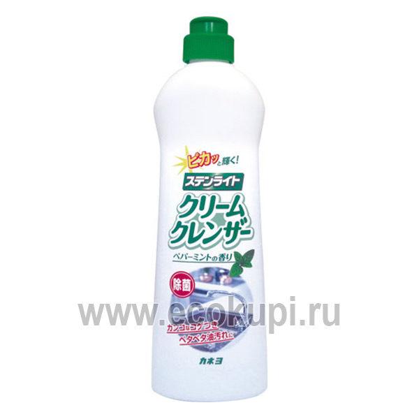 Японский чистящий крем для кухни экстракт бамбука KANEYO, бытовая химия япония по приемлемым ценам, средства для мытья посуды, скидки, описание, доставка