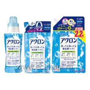Японское жидкое средство для деликатной стирки с ароматом нежного мыла LION Acron Soap купить товары из японии японская химия японские товары