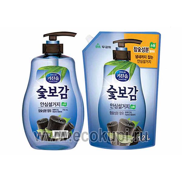 Корейское стерилизующее средство для мытья посуды овощей и фруктов в холодной воде Древесный уголь MUKUNGHWA средства для детской посуды Кореи Японии дешево