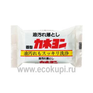 Японское мыло для удаления масляных пятен KANEYO, недорого купить мыло для стирки, средство для деликатной стирки из японии в интернет магазине доставка