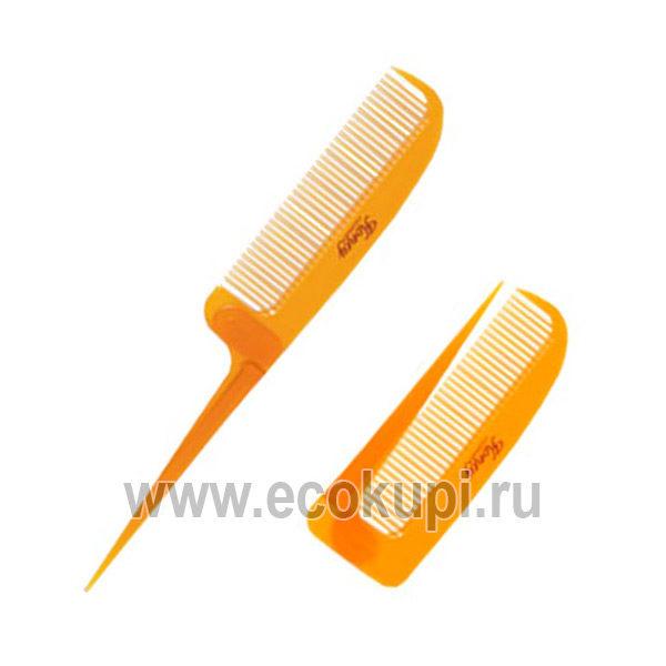 Японская расчёска для увлажнения и придания блеска волосам с мёдом и маточным молочком пчёл складная VESS Honey Brush, профессиональные расчески для волос