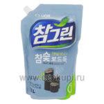 Корейское средство для мытья посуды овощей и фруктов древесный уголь CJ LION Chamgreen Charcoal, дешево купить средства для мытья посуды из кореи, самовывоз