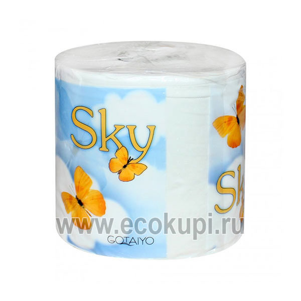 Японская трехслойная туалетная бумага с ароматом ментола в индивидуальной упаковке SKY, средства индивидуальной гигиены для всей семьи из Японии со скидкой