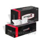 Японские салфетки бумажные двухслойные с ароматом зеленого чая Maneki Black & White купить бумажные косметические гигиенические салфетки