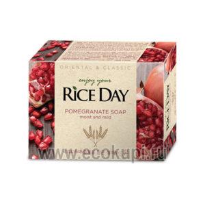 Корейское мыло туалетное с экстрактом граната и пиона CJ LION Riceday Pomegranate Soap, средство личной гигиены для семьи, интернет магазин товаров из Кореи