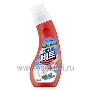 Корейское чистящее жидкое средство от пятен перед стиркой всех видов ткани, кроме шелка и шерсти CJ LION Beat, корейское средство для местного застирывания
