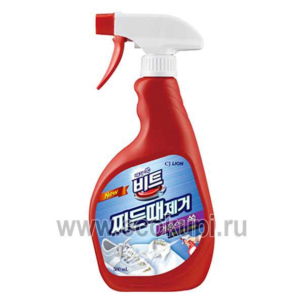 Корейский пятновыводитель отбеливатель кислородный CJ LION Beat Pre-treating купить недорого корейское средство для застирывания в интернет магазине, отзывы
