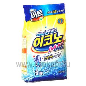 Корейский стиральный порошок CJ LION Beat Econo Max, корейская бытовая химия интернет магазин Экокупи, наличие самовывоза по России, акции скидки распродажа