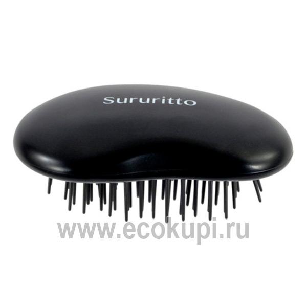 Японский массажер для кожи головы Vess Hair Brush SRT-1000 купить восстанавливающий шампунь и кондиционер интернет магазин косметики Экокупи
