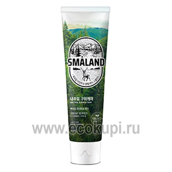 Корейская зубная паста премиум Освежающая мята Kerasys Smaland Forest Fresh Mint, магазин корейских средств личной гигиены дешево купить зубную щетку Кореи