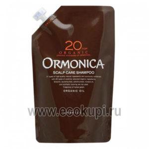 Японский органический шампунь для ухода за волосами и кожей головы ORMONICA Organic Scalp Care, купить недорого высококачественную органическую косметику