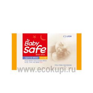 Мыло для стирки детских вещей с ароматом акации CJ LION Baby Safe, корейская химия интернет магазин Экокупи, описание доставка самовывоз распродажа новинки