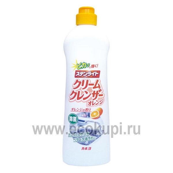 Японский крем чистящий для кухни апельсиновая свежесть KANEYO, недорого купить средство для чистки духовки, доставка курьером самовывоз заказа пункты России