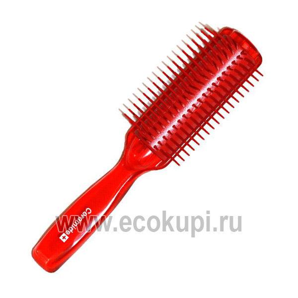 Японская щетка массажная для увлажнения и смягчения волос с церамидами VESS Ceramide Brush , купить расческа для выпрямления волос недорого, самовывоз ПВЗ