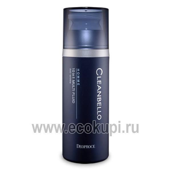 Антивозрастной флюид для мужчин 10 в 1 Cleanbello Homme 10 in 1 Multi Fluid Anti-Wrinkle, интернет магазин мужской косметики из Японии и Кореи в Москве