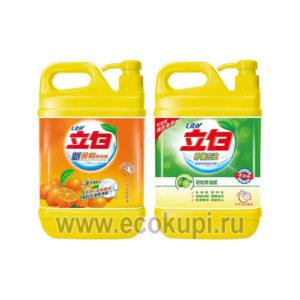 Жидкость для посуды - чистая посуда LIBY Kumqust Dishwashing Liquid купить недорого посудная губка интернет магазин японских корейских хозяйственных товаров
