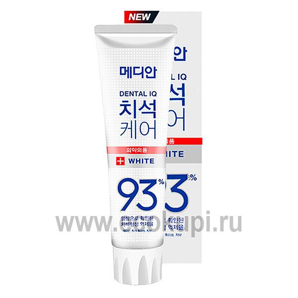 Зубная паста отбеливающая MEDIAN White 93% Toothpaste интернет магазин средств гигиены полости рта Москва, купить корейские и японские зубные пасты недорого