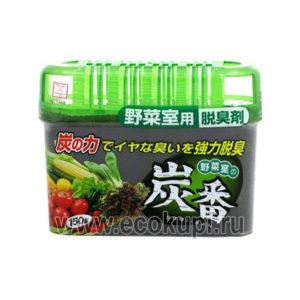 Японский поглотитель неприятных запахов для холодильника для овощного отделения KOKUBO Sumi-Ban комнатные поглотители запахов в шариках купить дешево скидки