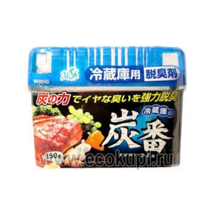 Японский поглотитель неприятных запахов для холодильника для общего отделения KOKUBO Sumi-Ban, гелевые освежители из японии кореи купить дешево, самовывоз
