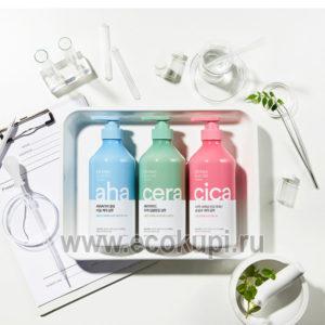Корейский шампунь для волос глубокое очищение Kerasys Derma & More Deep Cleansing Shampoo купить дешево корейская косметика в Москве низкие цены с доставкой