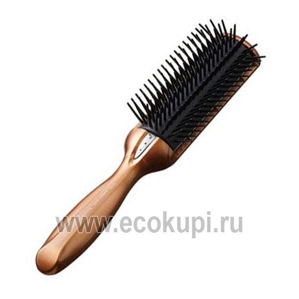 Японская щетка массажная с кератином и антистатическим эффектом VESS Anti-Static Hair Brush, расческа выпрямитель для волос отзывы подробное описание, акции