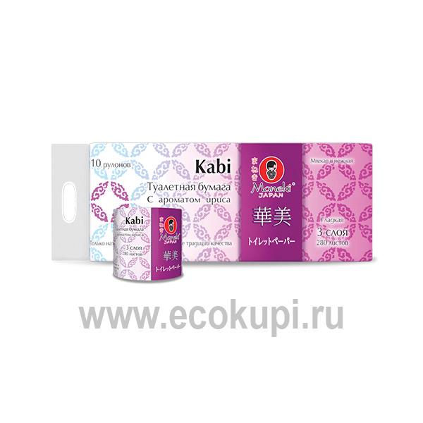 Японская туалетная бумага с тиснением Maneki Kabi японский интернет магазин в Москве Экокупи выгодные цены удобная доставка отзывы клиентов