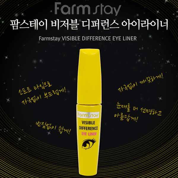 Корейская подводка-лайнер для глаз FarmStay Visible Difference Difference Eye Liner уникальные высококачественные косметические средства, пополнение новинок