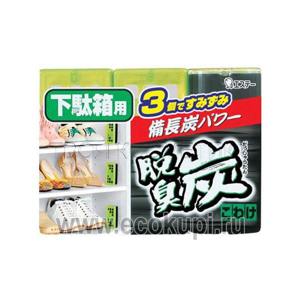 Желеобразный дезодорант с древестным углем для обувных ящиков ST Dashutan, купить японская бытовая химия дешево, праздничные распродажи, скидки, акции