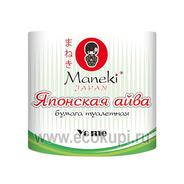 Японская туалетная бумага с тиснением с ароматом Японской айвы Maneki Yo Me, уникальные гигиенические средства, купить недорого средства личной гигиены