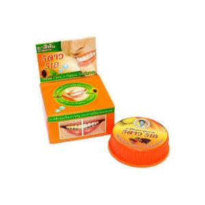 Травяная отбеливающая зубная паста с экстрактом Папаи 5 Star Cosmetics, купить недорого ополаскиватель для рта, купить жесткая зубная щетка, выгодные цены