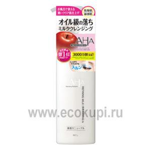 Японское очищающее и увлажняющее гель-молочко для снятия макияжа с фруктовыми кислотами BCL Aha Cleansing Research Moist Gel Milk Cleansing доставка Россия